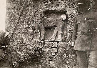 Vuno - Image: Venetian Saint Mark Lion, photo taken in Vuno 1918