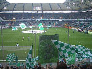 VfL Wolfsburg - Wolfsburg fans against TSG 1899 Hoffenheim.