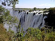 The Eastern Cataract, on the Zambian side.