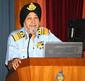 """Vice Admiral SPS Cheema, Flag Officer Commanding-in-Chief Western Naval Command delivered the opening address during seminar on """"The Influence of Indian Navy in the India.jpg"""