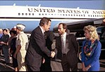 Vice President Bush meets with supporters, including singer Lee Greenwood, on a campaign stop in Redding, California. 03 October 1988.jpg