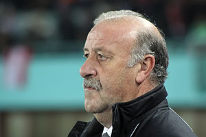 Deutsch: Vicente del Bosque, Teamchef der Span...