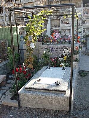 Español: sepulcro de Víctor Jara en el Cemente...
