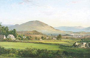 Manchester, Vermont - View of Manchester, Vermont by DeWitt Clinton Boutelle (1870)