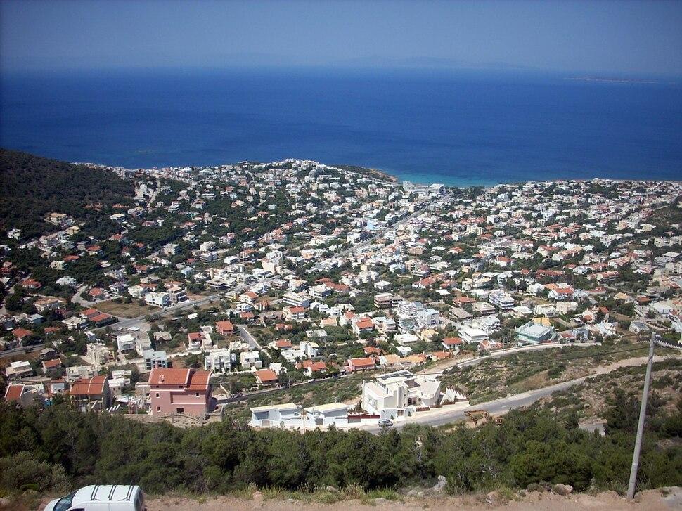 View on Saronida