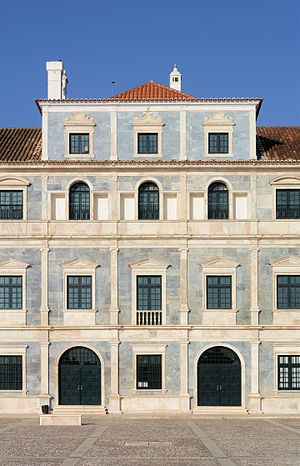 Ducal Palace of Vila Viçosa - The Palace of the Dukes of Braganza, in Vila Viçosa. detail of the main facade