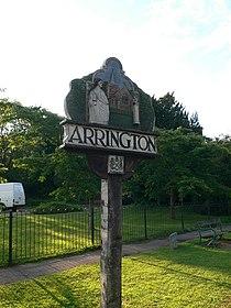 Village sign, Arrington - geograph.org.uk - 987168.jpg