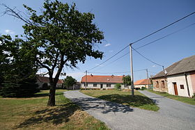 Village square of Smrk, Třebíč District.jpg