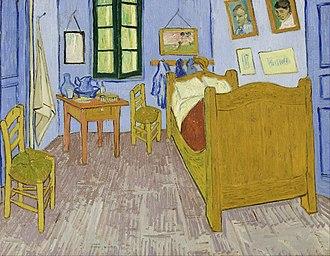 Bedroom in Arles - Third version, end September 1889. Oil on canvas, 57.5 x 74 cm, Musée d'Orsay, Paris
