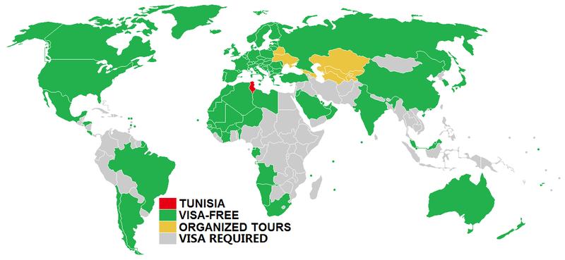 Visa policy of Tunisia - Wikipedia