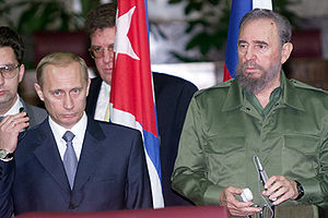 English: HAVANA. A news conference with Russia...