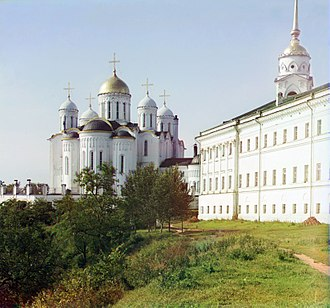 Grand Duke of Vladimir - Assumption Cathedral in Vladimir was built in 1158-60 and functioned as the mother church of Russia in the 13th century.