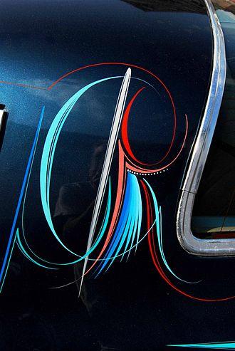 Kenny Howard - Complex Von Dutch Pin Stripe on Blue Velvet