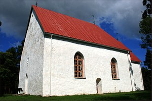 Estonian Swedes - Swedish church in Hullo, Vormsi