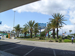 Faro Airport - The forecourt of the arrivals hall