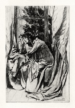 Mariana (poem) - Illustration by W. E. F. Britten