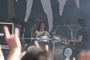 Joe Duplantier - Joe Duplantier (right) performing at Hellfest in 2013.