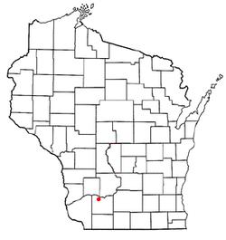 Vị trí trong Quận Iowa, Wisconsin