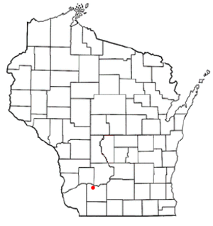 Clyde, Wisconsin - Image: WI Map doton Clyde