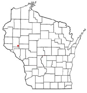 Rock Creek, Wisconsin - Image: WI Map doton Rock Creek