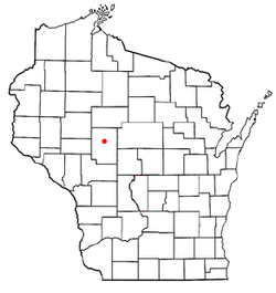 Location of Warner, Wisconsin