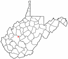 Location of Clendenin, West Virginia