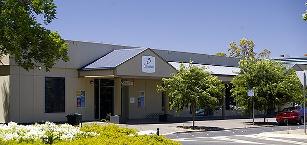 A Centrelink office in Wagga Wagga, New South Wales. The Department of Human Services, which administers Centrelink services, is the largest APS agency. Wagga Wagga Centrelink Office.jpg