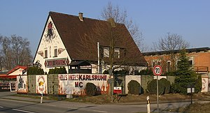 Hells Angels MC criminal allegations and incidents - Karlsruhe club house in Waghäusel
