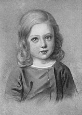 Walther Wolfgang von Goethe als Kind 1824 (Quelle: Wikimedia)