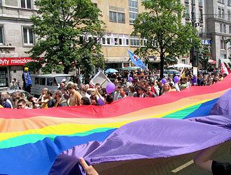 Rainbow flag - Image: Warszawa.Parada Równości 2006.5432