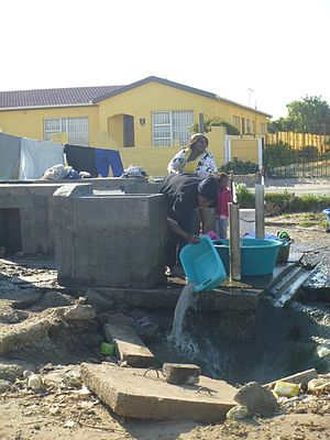 Township (South Africa) - The only water pump in that area of the township