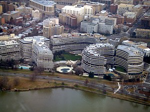 A photo of the Watergate Complex taken from a ...