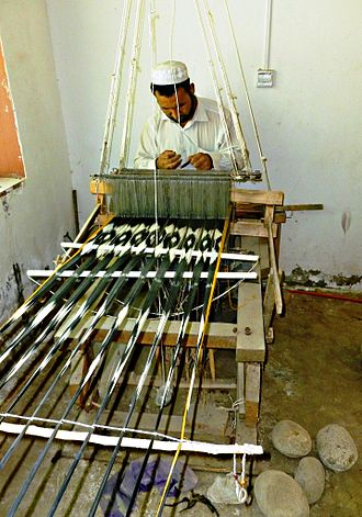 Silk in the Indian subcontinent - Weaving silk in Khotan, on the 'Southern Silk Road' 2011