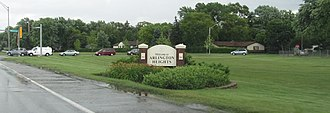 Arlington Heights, Illinois - Welcome sign