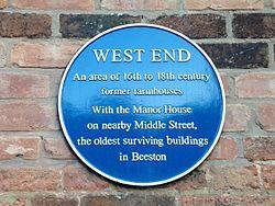 West end plaque