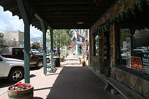 Westcliffe, Colorado - Shopping lane in downtown Westcliffe