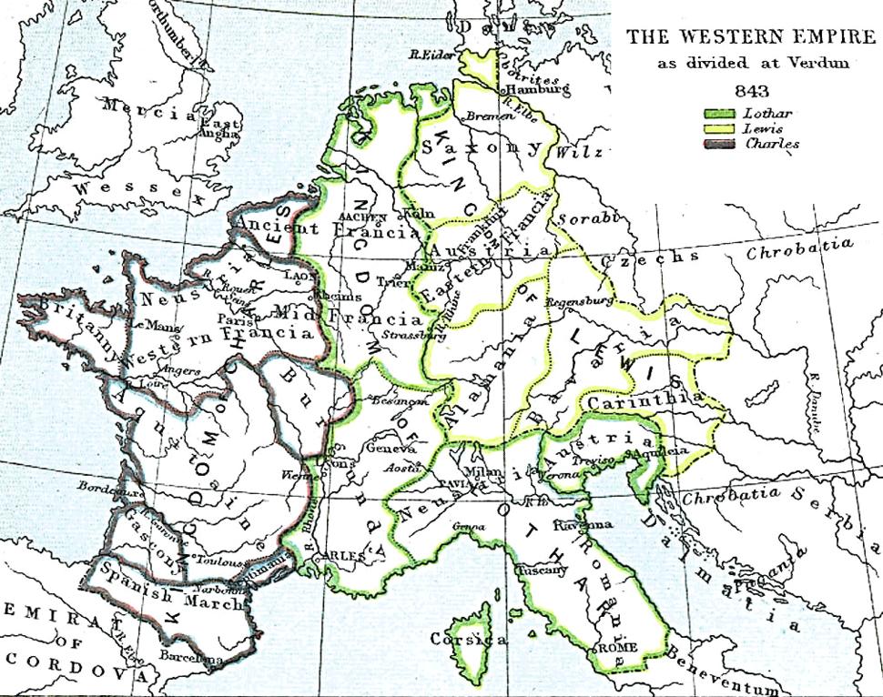 Western empire verdun 843