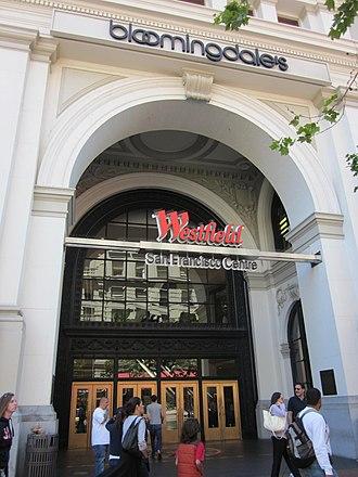 Westfield San Francisco Centre - Image: Westfield SF Centre Market St. entrance 1