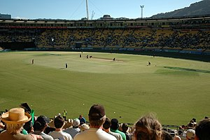 Wellington Regional Stadium - Image: Westpac Stadium Cricket luving Crowd