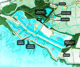 Newport Wetlands - Map of Newport Wetlands RSPB Reserve