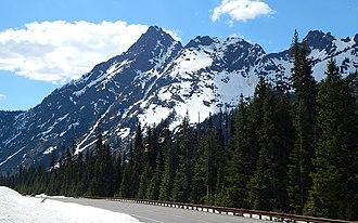 Whistler Mountain (Washington) - Whistler Mountain seen from North Cascades Highway