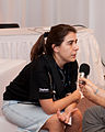 Wikimania 2009 - Beatriz being interviewed.jpg
