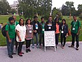 Wikimania 2019 - Day 3. Bengali Wikimedians Group photo with banner.jpg