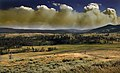 Wildfire in Yellowstone Natinal Park produces Pyrocumulus cloud.jpg