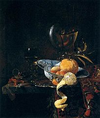 Still Life with a Porcelain Bowl and Nautilus Cup