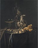 Willem van Aelst - Still Life. Breakfast Piece with a Silver Jug - KMS379 - Statens Museum for Kunst.jpg
