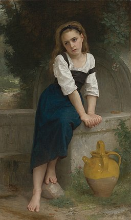 William-Adolphe Bouguereau (1825-1905) - Orphan by the Fountain (1883)