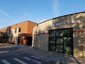 Williston School - Williston Middle school in 2016