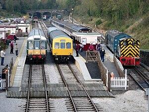 Ecclesbourne Valley Railway - Image: Wirksworth Station Overview
