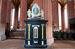Wismar, St. Nikolai, Kanzelaufgang m.JPG
